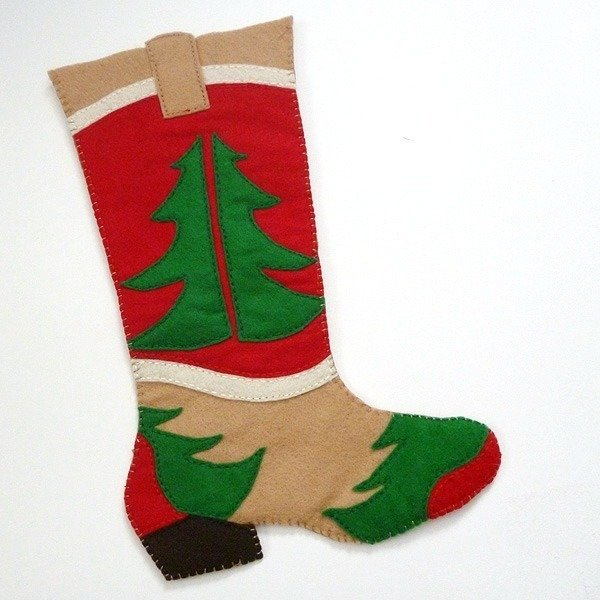 Free Cowboy Boot Christmas Stocking Pattern - Dream a Little Bigger