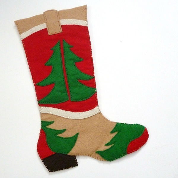 Free Cowboy Boot Christmas Stocking Pattern