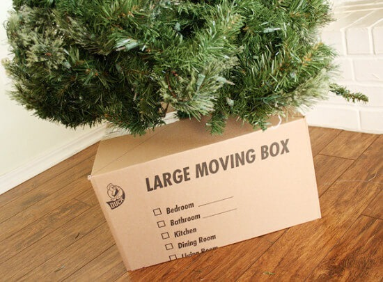 Hide Your Christmas Tree Base with a Gift!