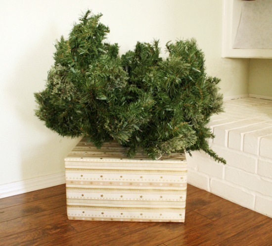 Tremendous Hide Your Christmas Tree Base With A Gift Dream A Little Bigger Easy Diy Christmas Decorations Tissureus