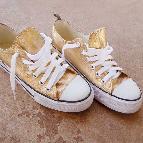 Make your sneakers 24K gold - Dream a Little Bigger