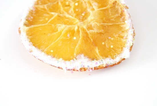 A Citrus Christmas - a Duo of Orange DIYs - Glittered Citrus Slices