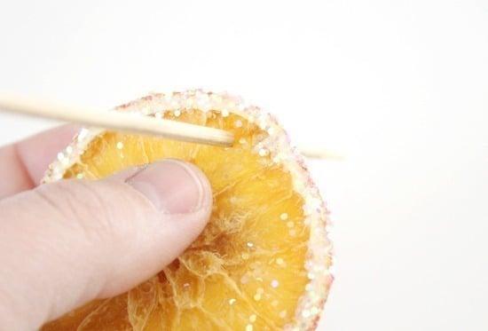 A Citrus Christmas - a Duo of Orange DIYs - Glittered Citrus Slices