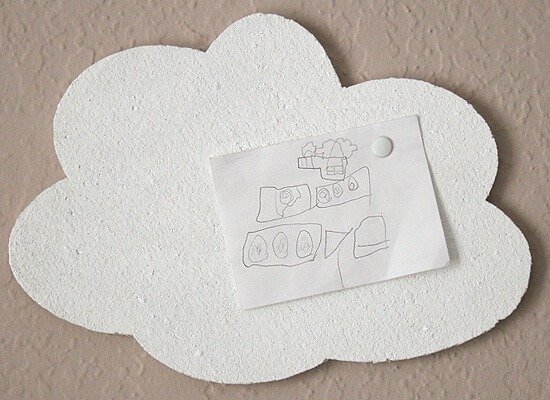 Copy cat Urban Outfitters cloud cork board DIY at Dream a Little Bigger