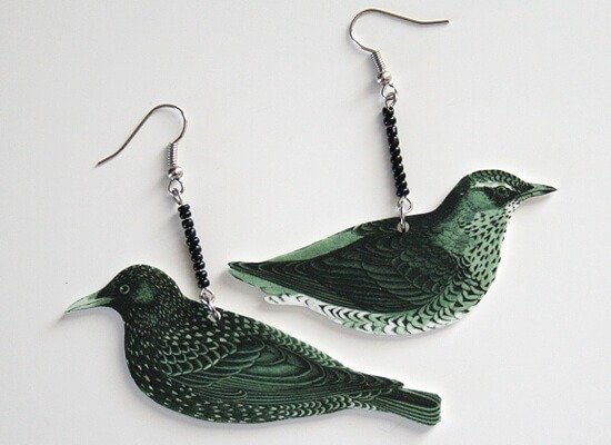 Make these cute bird earrings with Shrinky Dink jewelry DIY at Dream a Little Bigger