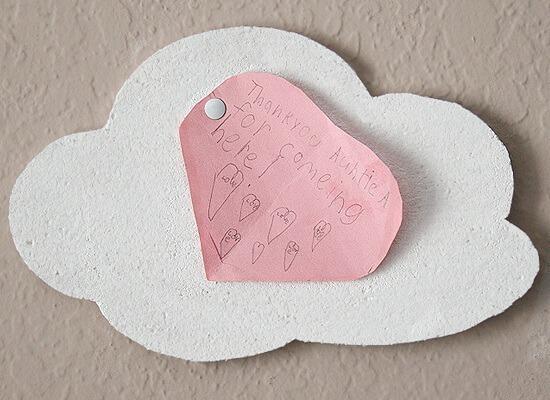 Copy cat Urban Outfitters cloud cork board DIY at Dream a Little Bigger