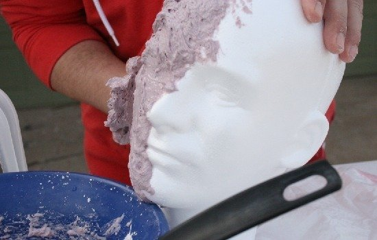 Use a styrofoam wig head to make a plaster bust. Full tutorial at Dream a Little Bigger.