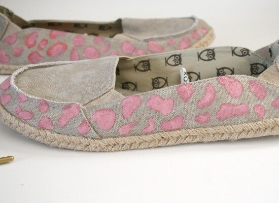 Pink Cheetah Espadrille Shoe Makeover by Dream a Little Bigger