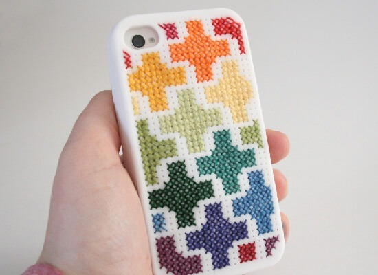 Cross stitch an iPhone case! Dream a Little Bigger