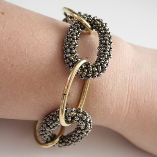 Beaded Chunky Hardware Store Chain Bracelet Tutorial
