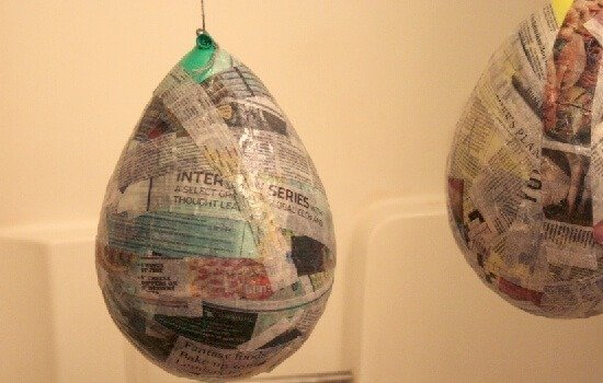 How to make a pinata + gluten free paper mache paste recipe at Dreama Little Bigger