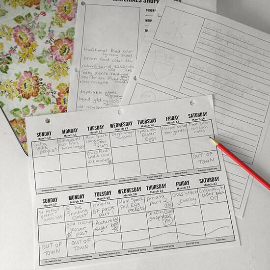 FREE blog planning binder printables at Dream a Little Bigger