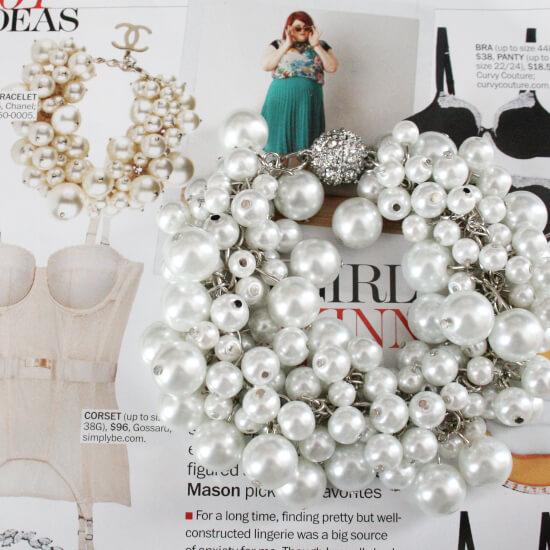 DIY Chanel Inspired Pearl Bracelet