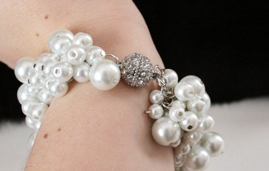 DIY Chanel Inspired Pearl Bracelet