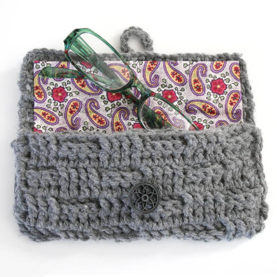Free Crochet Pattern Eyeglass Case : Crochet Eyeglasses Case Tutorial - Dream a Little Bigger