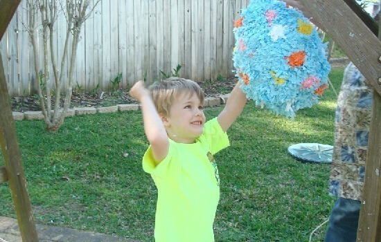 How to decorate a pinata with crepe paper at Dream a Bigger