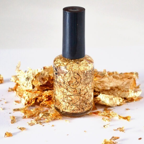 Gold leaf top coat, make at home and save BIG bucks!
