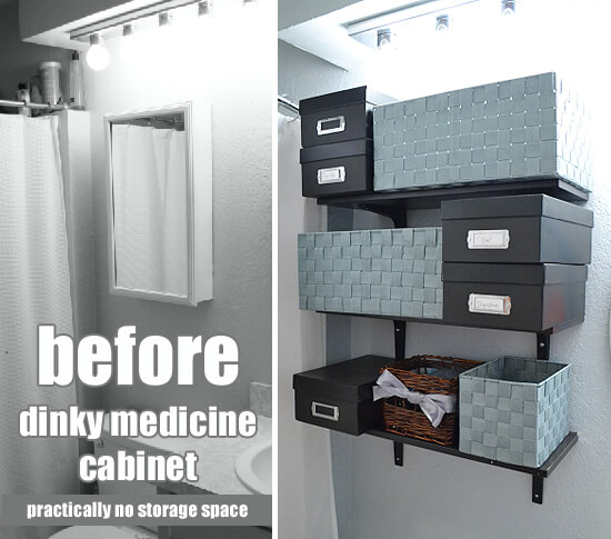 Easy DIY Medicine Storage DIY + cute FREE Printables with Dream a Little Bigger