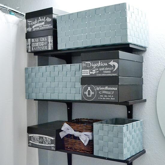 Easy DIY Medicine Storage DIY + cute FREE Printables with Dream a Little Bigger
