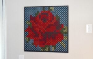 Gigantic cross stitch wall art tutorial at Dream a Little Bigger