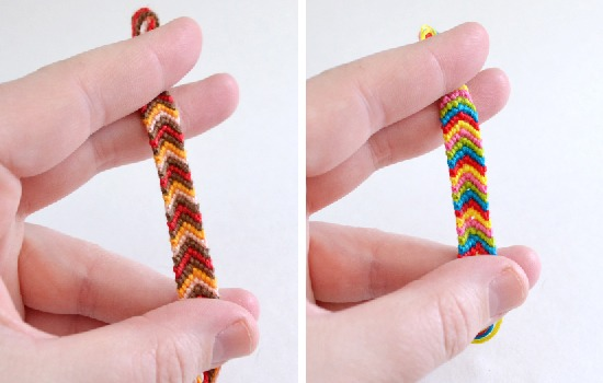 Technique to Make Chevron Friendship Bracelet