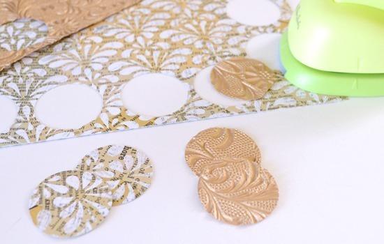 Scrap busting scrap-booking paper earrings tutorial - Dream a Little Bigger