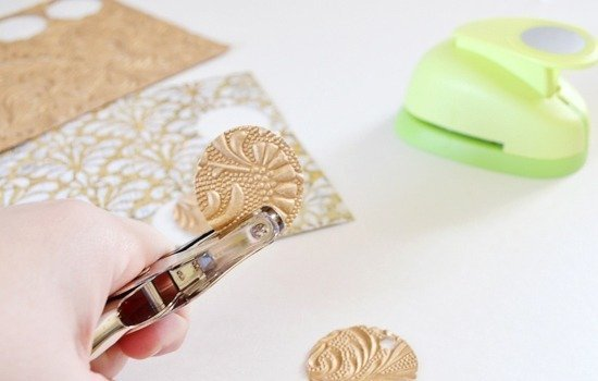 Scrap busting scrap-booking paper earrings tutorial - Dream a Little Bigger