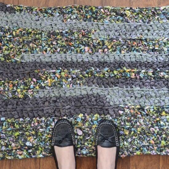 Upcycled Linens Crochet Rag Rug Tutorial