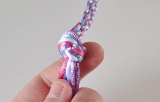 编织彩色手链,传统技艺彩绳手链编织图解