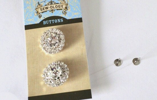 Make pretty earrings from buttons. So smart. So simple!