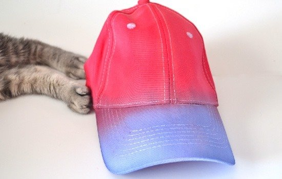 So cute! DIY Star Spangled & Tie Dyed Patriotic Ball Cap Tutorial at www.dreamalittlebigger.com