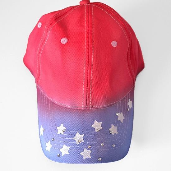 So cute! DIY Star Spangled & Tie Dyed Patriotic Ball Cap Tutorial at www.dreamalittlebigger.com