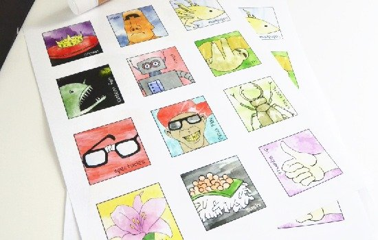 Such a pretty hand painted match game. Make yours with tutorial and freebie!