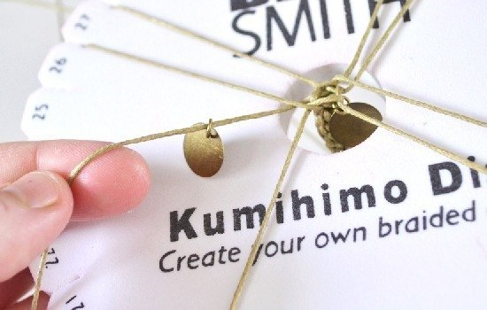 Make a Kumihimo braid with metal coin beads. So pretty!