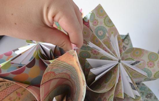 Kusudama Origami Ball Tutorial