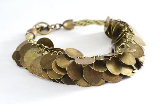 Make a Kumihimo braid with metal coin beads. So pretty!