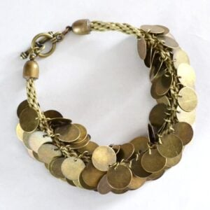 Make a coin beaded Kumihimo bracelet