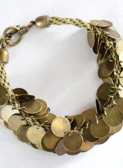 Make a coin beaded Kumihimo bracelet