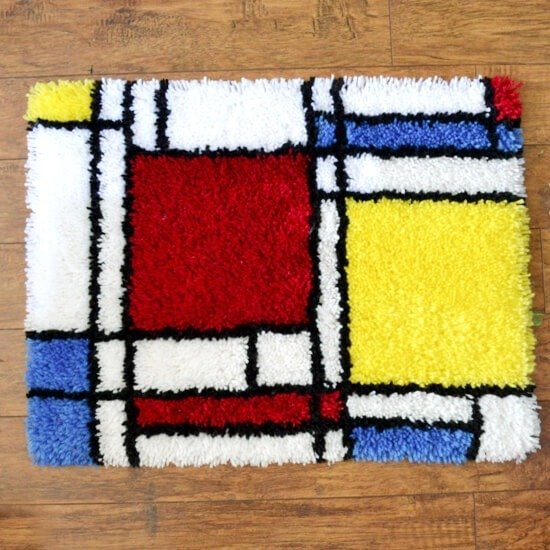 Learn how to finish up the edges on a latch hook rug. It's really easy!