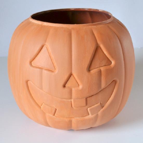 Jack-o'-Lantern Pumpkin Terra Cotta Pot Tutorial