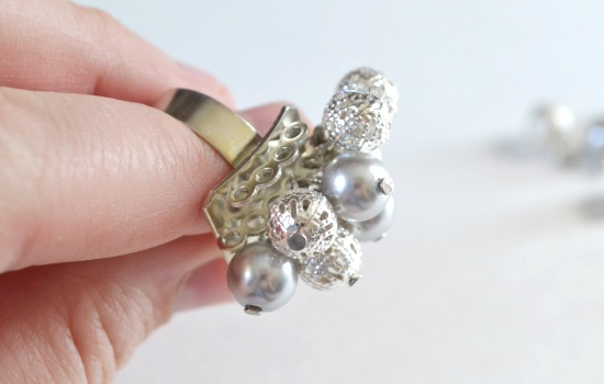 Big Beaded Bobble Ring Tutorial
