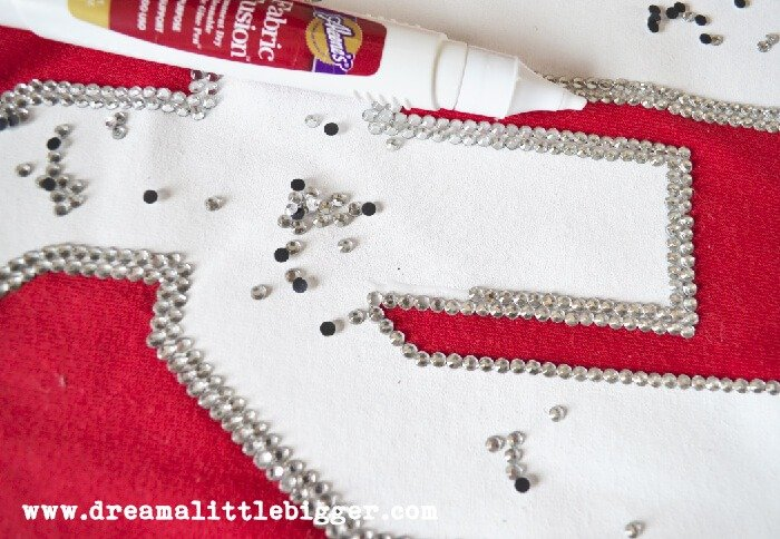 Team Spirit Rhinestone Tee Tutorial, Team Bling!