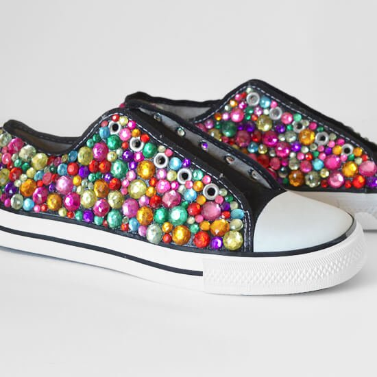 Rhinestone Sneakers Tutorial - Dream a Little Bigger f4e939acb