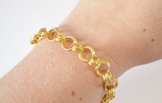 Easy Jump Ring Chain Bracelet Tutorial at Dream a Little Bigger