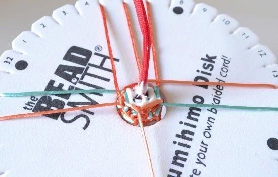 Kumihimo Tutorial Over Cords and Big Beads :: www.dreamalittlebigger.com