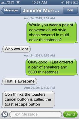 Rhinestone Sneakers Tutorial -- www.dreamalittlebigger.com