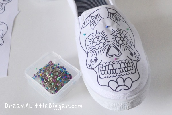 Sugar Skull Sneakers Tutorial by DreamALittleBigger.com