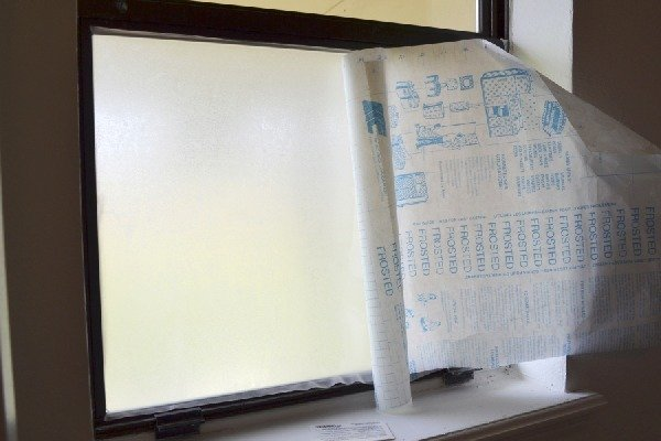 Easy Diy Frosted Window For Privacy Temporary