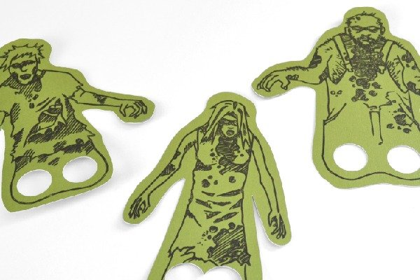 Free Zombie Finger Puppets - free printable or Silhouette sketch and cut files
