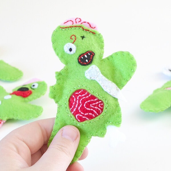 Felt Zombie Catnip Filled Cat Toys Tutorial